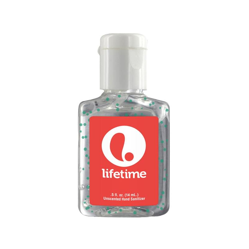 0.5 oz Single Color Moisture Bead Sanitizer in Clear Bottle