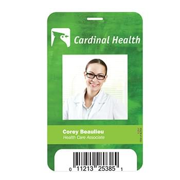 "Plastic Identification Badge - 3 5/8"" x 5 1/2"""