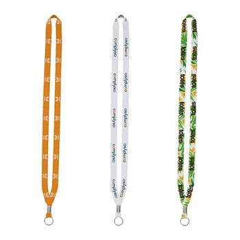 "Import Rush 1/2"" Dye-Sublimated Lanyard with Silver Crimp & Split-Ring"