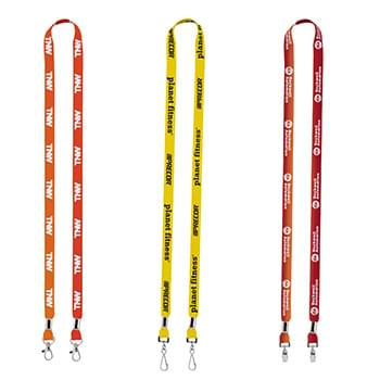 "Import Rush 1/2"" Dye-Sublimated 2-Ended Lanyard with Dual Silver Crimps & Split-Rings"