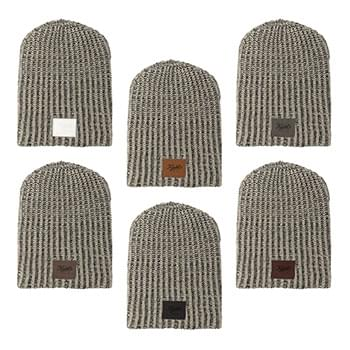 Haberdasher Knit Beanie with Leather Patch