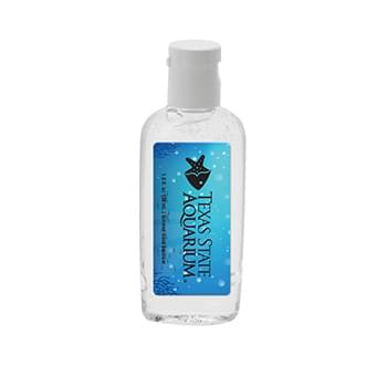 1 oz Clear Sanitizer in Oval Bottle