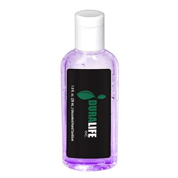 1 oz. Tinted Sanitizer in Clear Oval Bottle